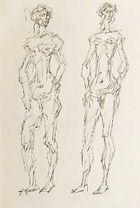 C Reymond : Étude pour sculptures