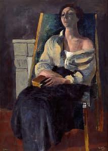 W Gimmi : Femme assise au livre (Fernande)