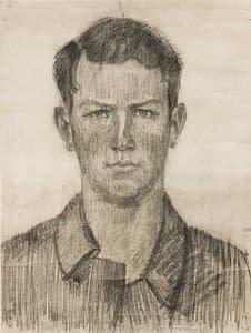 C Reymond : Autoportrait adlolescent