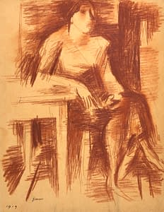 W Gimmi : Femme assise à table
