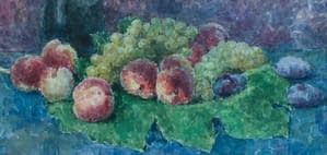 C Reymond : Pêches, raisins et pruneaux
