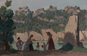 Italo : Baigneurs en rivière