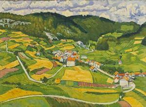 C Reymond : La village de Vaulion