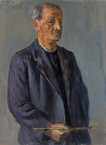 W. Gimmi : Autoportrait au pinceau
