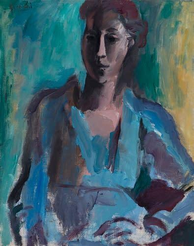 W. Gimmi Portrait de jeune femme 1918
