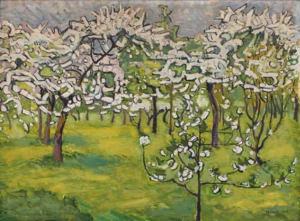 C Reymond : Cerisiers en fleur