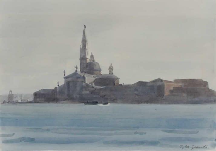 Italo : San Giorgio Maggiore par temps gris