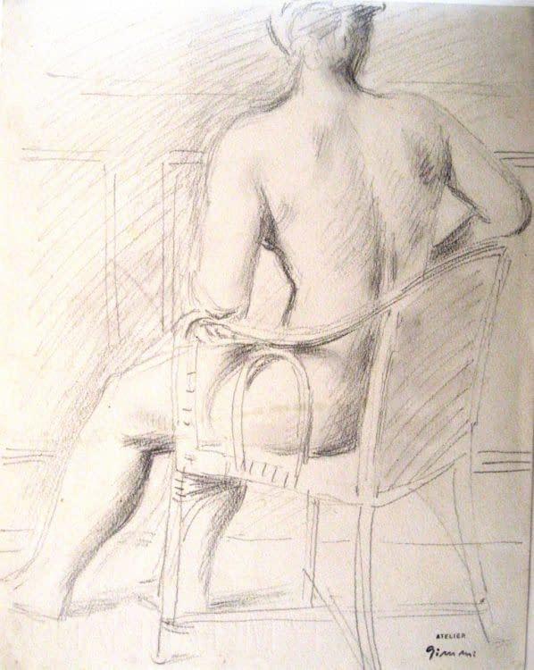 W Gimmi : Étude pour Nu au fauteuil de dos
