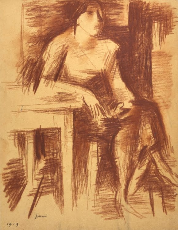 W Gimmi : Femme assise à table