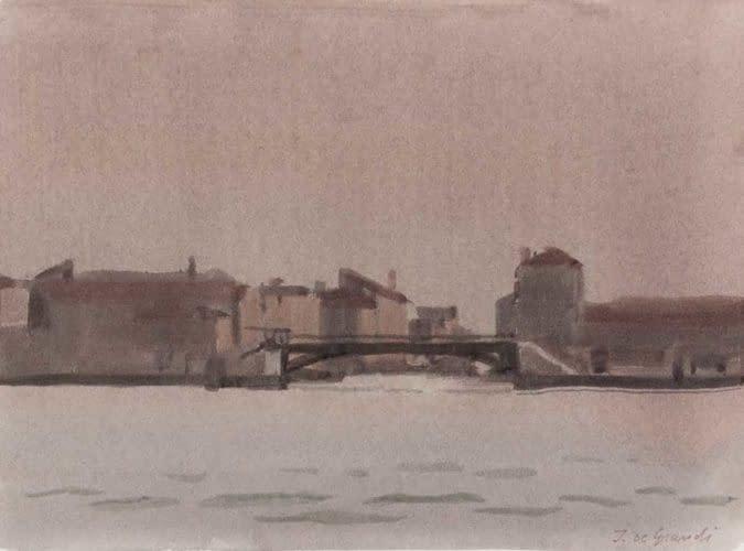 Le pont de fer à la Giudecca