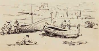 C Reymond : Bateau de pêcheurs