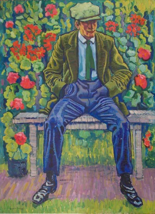 C Reymond : L'homme au pantalon bleu